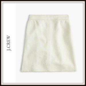 J. Crew Princess Double Serge Wool Mini Skirt